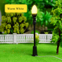 100pcs 3V LED height 6.8cm warm white scale miniature lamppost single head scale model light good quality