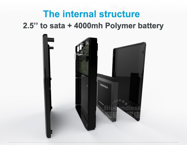 Usb 3.0 для sata до 2 ТБ с Wi-Fi конвертер sata стойку и 4000 мАч Power Bank 2.5 hdd корпус U25AWF