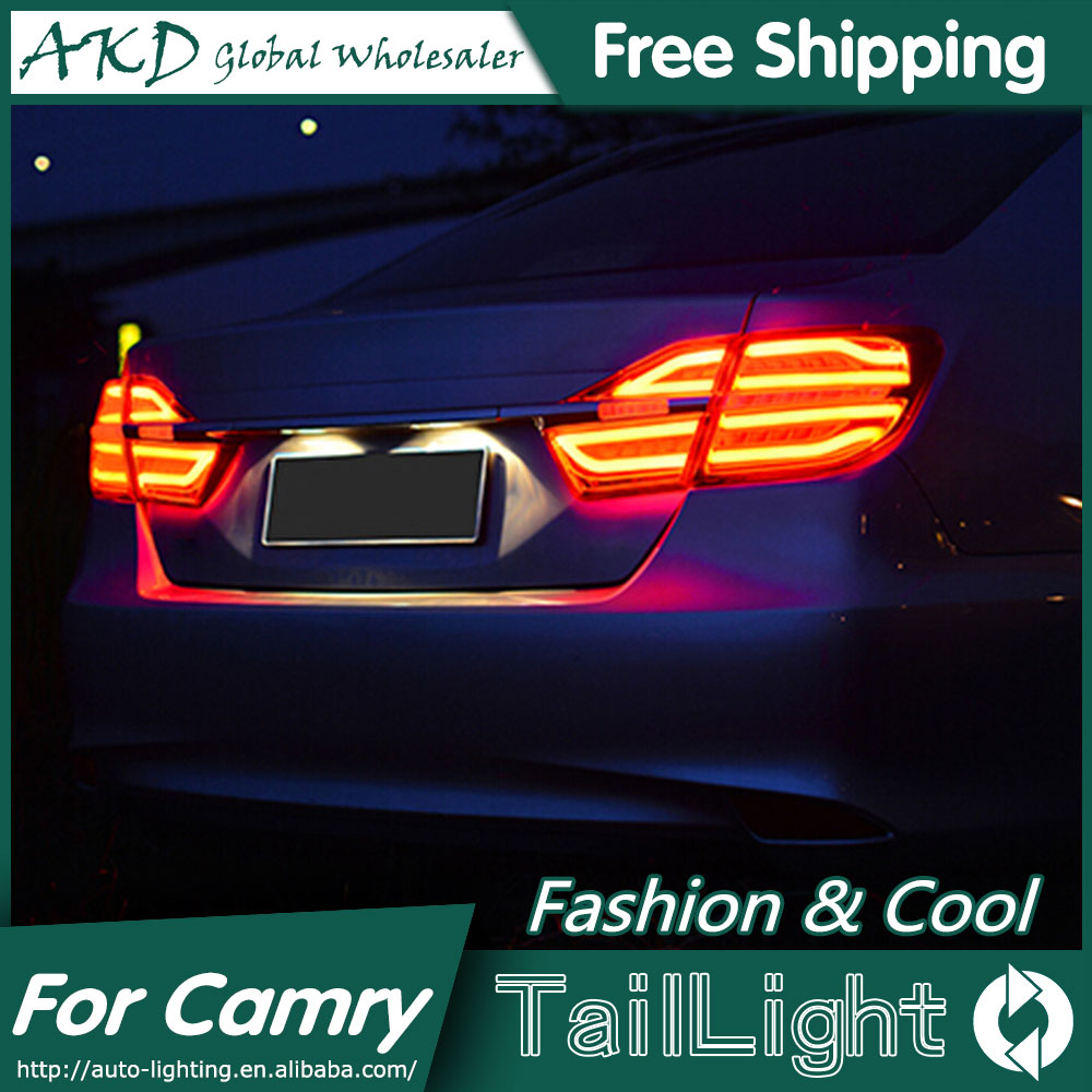 AKD Car Styling for Toyota Camry Tail Lights 2015 New Camry V55 LED Tail Light Rear Lamp DRL+Brake+Park+Signal