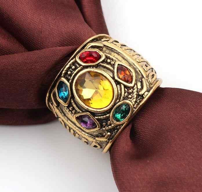 Marvel Avengers Infinity War Thanos figure jouets infini gantelet puissance Cosplay alliage anneau bijoux cadeau pour homme/femme jouet