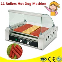 220V Commercial French Muffin Machine 11 Rollers Hot Dog Corn Shaped Lolly Wafer Waffle Makers Kitchen