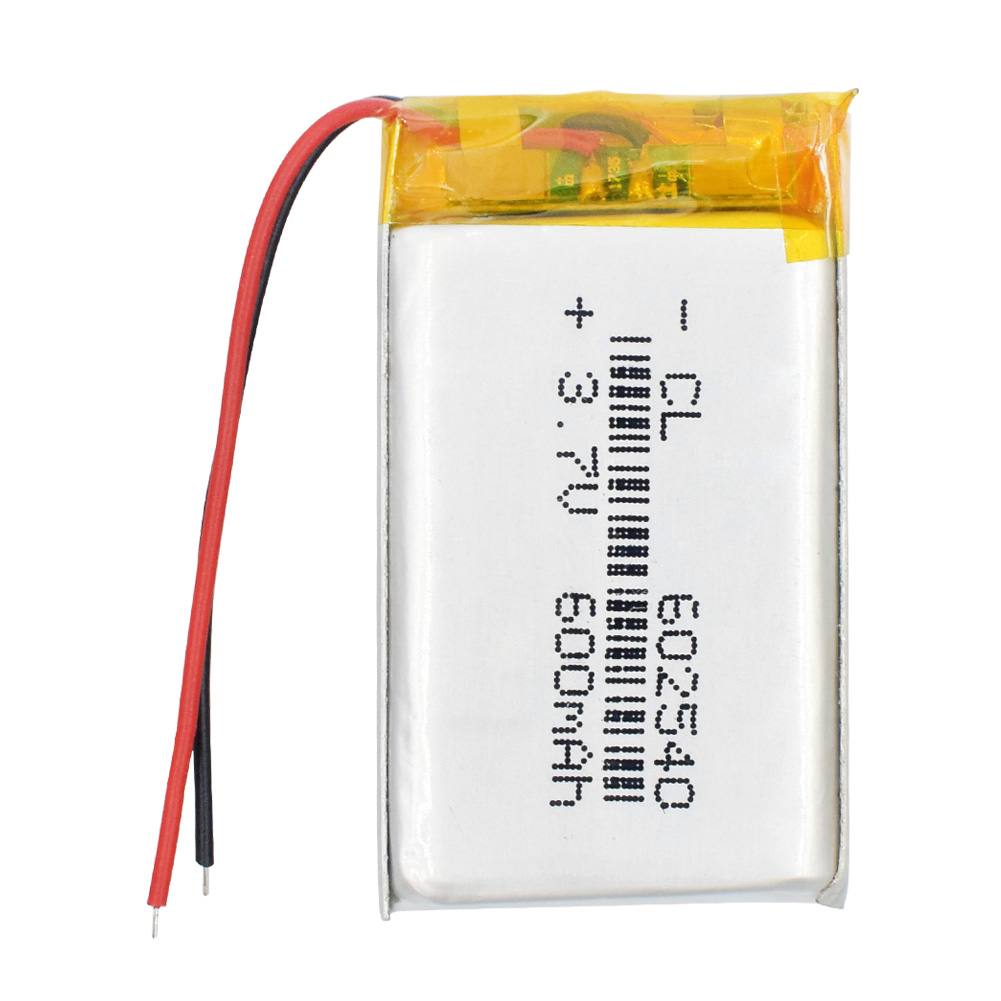 3.7V polymer lithium <font><b>battery</b></font> <font><b>602540</b></font> driving recorder general <font><b>battery</b></font> 600mAh 652540 recording pen Rechargeable Li-ion Cell image