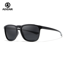 Fashion Sports Polarized Sunglasses Mens Luxury Brand KDEAM Square Goggles 100% UV Protection Sun Glasses With Case KD916
