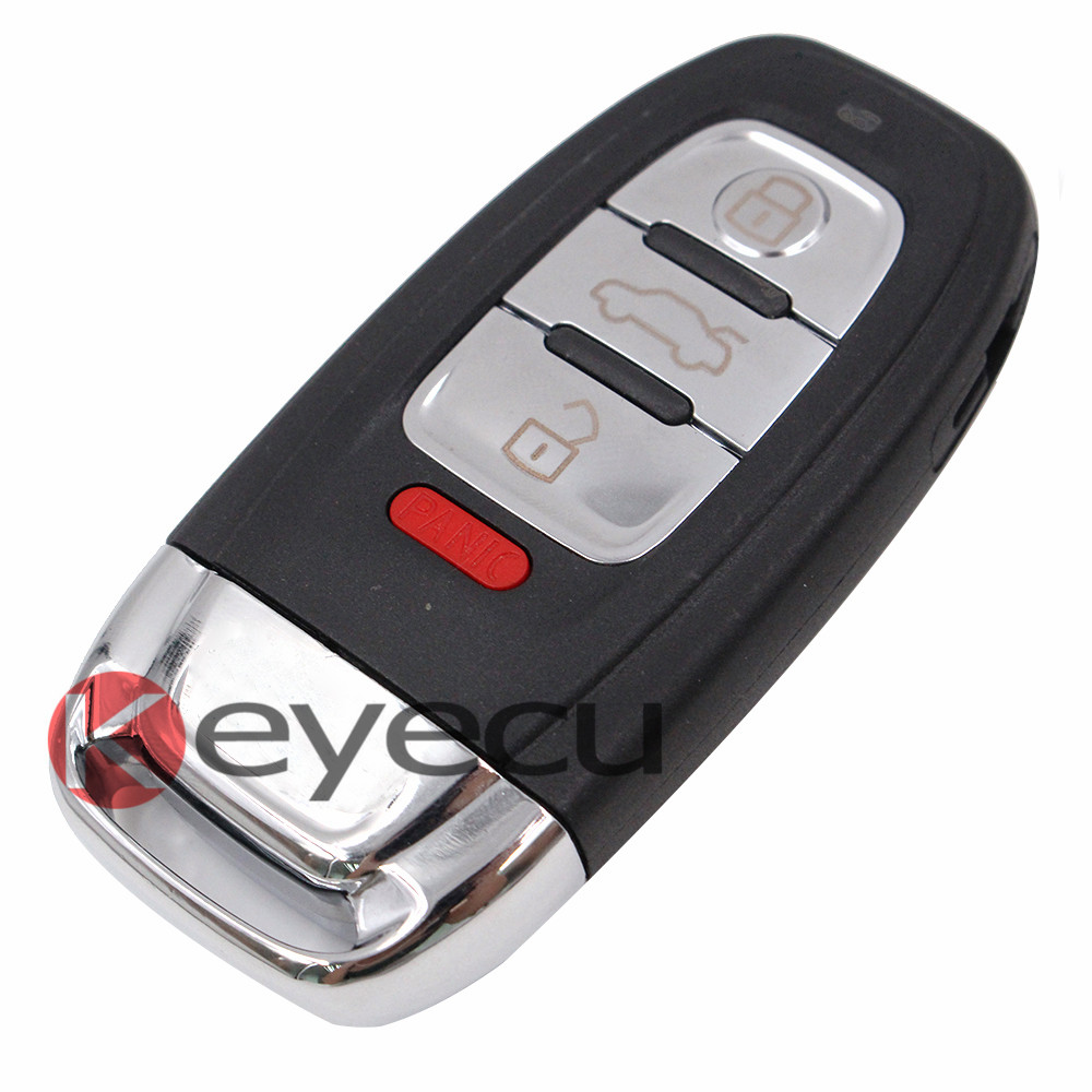 Brand New Keyless Entry Smart Remote Key Fob 3 Button+Panic 315MHz for Audi FCC ID: IYZFBSB802 Inserted Uncut Blade With Logo