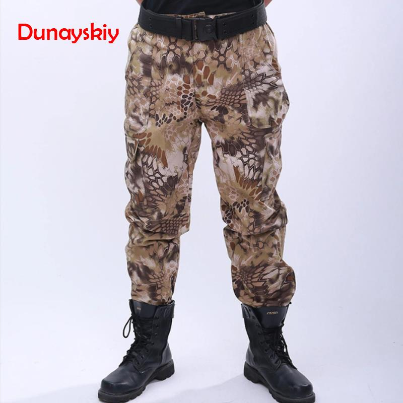 Men Military Pants Uniform Tactical Combat Multicam Pant Tatico Clothing Uniforme Militar Black Python Bottoms Hunting Clothes