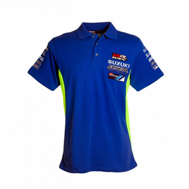 2018 Moto GP Cotton Polo T-shirt For Suzuki Team Ecstar Motorcycle Sport Riding GRX Men's polo T Shirts RR GRX Racing Clothing