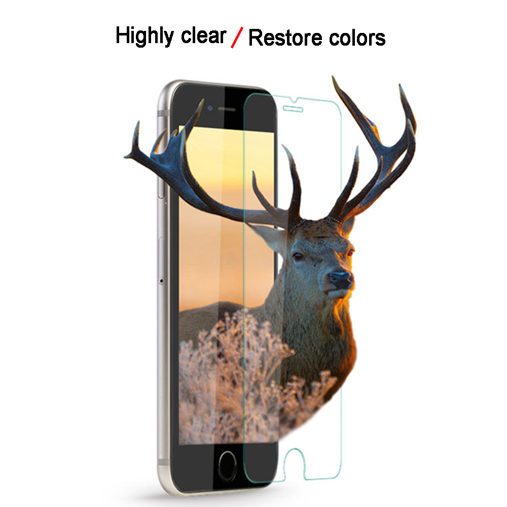 Aicisingn Protective Tempered Glass Flim For iPhone 7 8 6 6S Plus Sturdy Screen Protection Tempered Flim For iPhone X XS Max XR