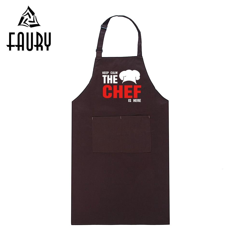 KEEP CALM Funny Design Printed Adjustable Halter Long Aprons Restaurant Hotel Kitchen Chef Workwear Cafe Food Service Uniforms