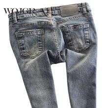 WQJGR, весенние женские джинсы с низкой талией, узкие брюки, Стрейчевые брюки, тонкие корейские джинсы для женщин
