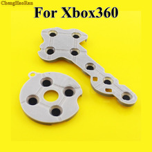 ChengHaoRan 100 caucho conductivo de silicona almohadillas para Xbox360 controlador inalámbrico para Xbox 360 botón de contacto D Pad Repair