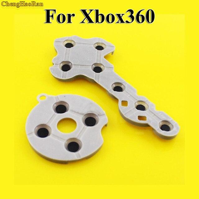 ChengHaoRan 100 set tampons en caoutchouc silicone conducteur pour Xbox360 contrôleur sans fil pour Xbox 360 bouton de Contact d pad réparation