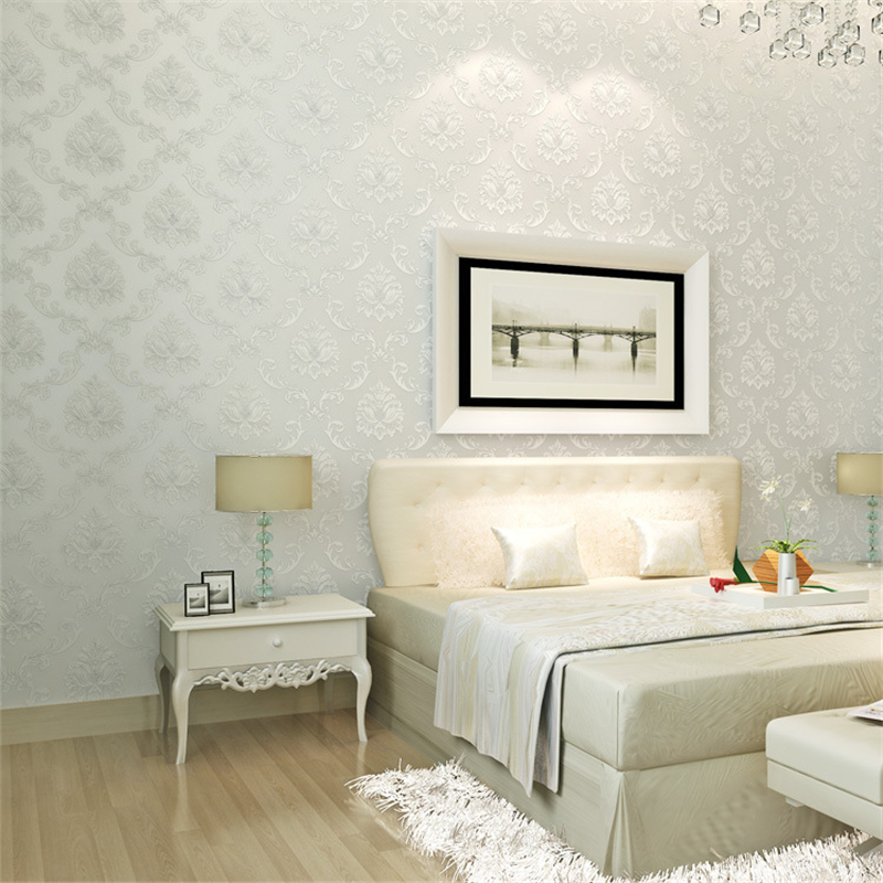 Bedroom Plain Wall Minimalist Concept European Non Woven Wallpaper Bedroom Wallpaper Plain Cozy Living Room