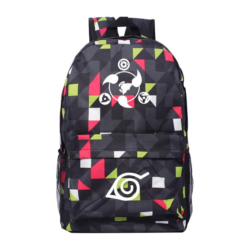 Nueva moda luminosa Naruto Plaid mochila niño niña Hokage Ninjia - Mochilas