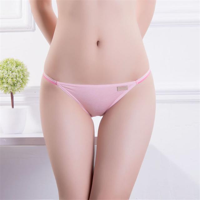 4 pcs/lot Women's Sexy Underwear String Panties Low Waist Women Briefs Thongs Sexy Lingerie 12 Color  Women Briefs Size M / L
