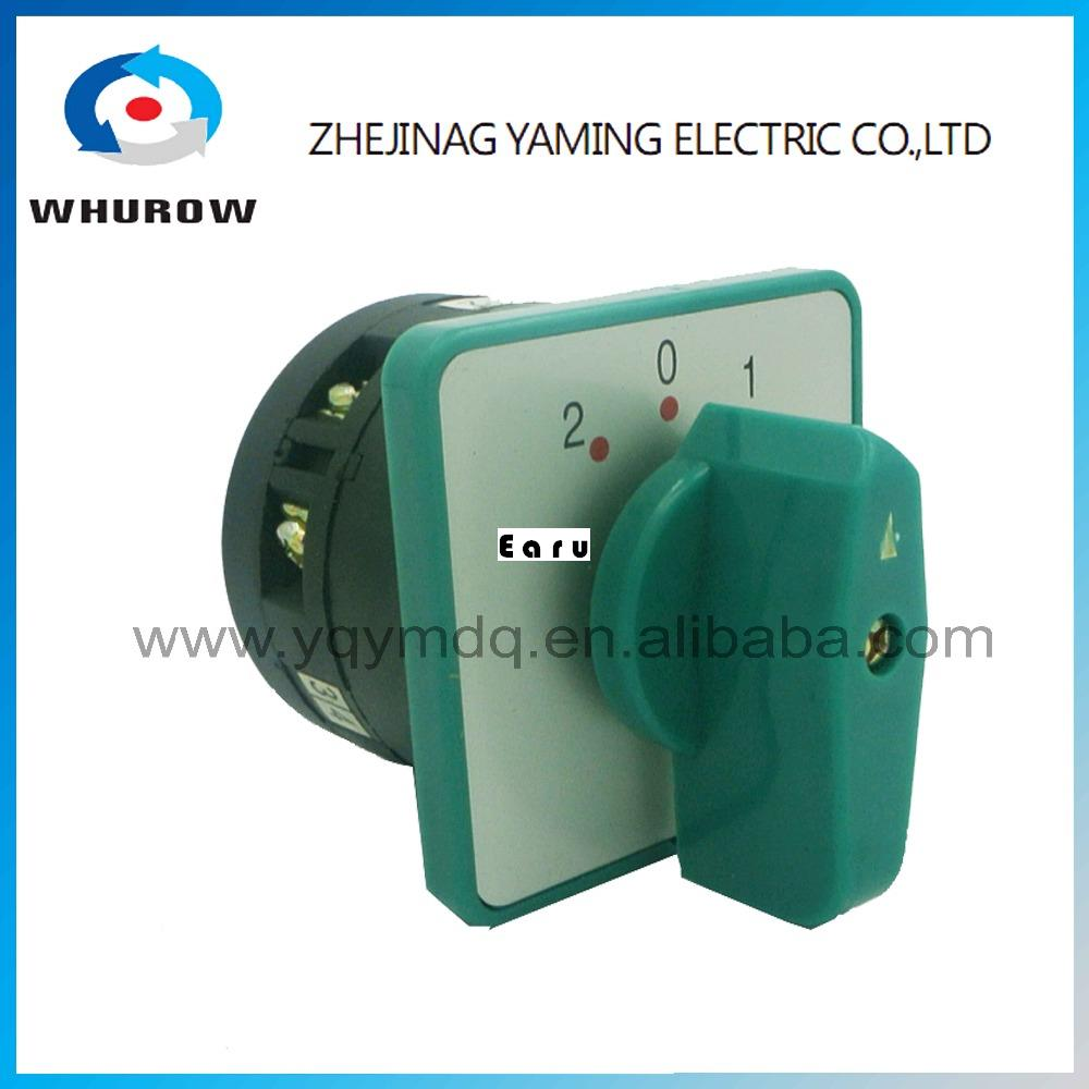 LW6-5/1 high dc voltage automatic electrical changeover rotary cam switch 1 pole 3 positions 5A 10A sliver point contacts 660v ui 10a ith 8 terminals rotary cam universal changeover combination switch