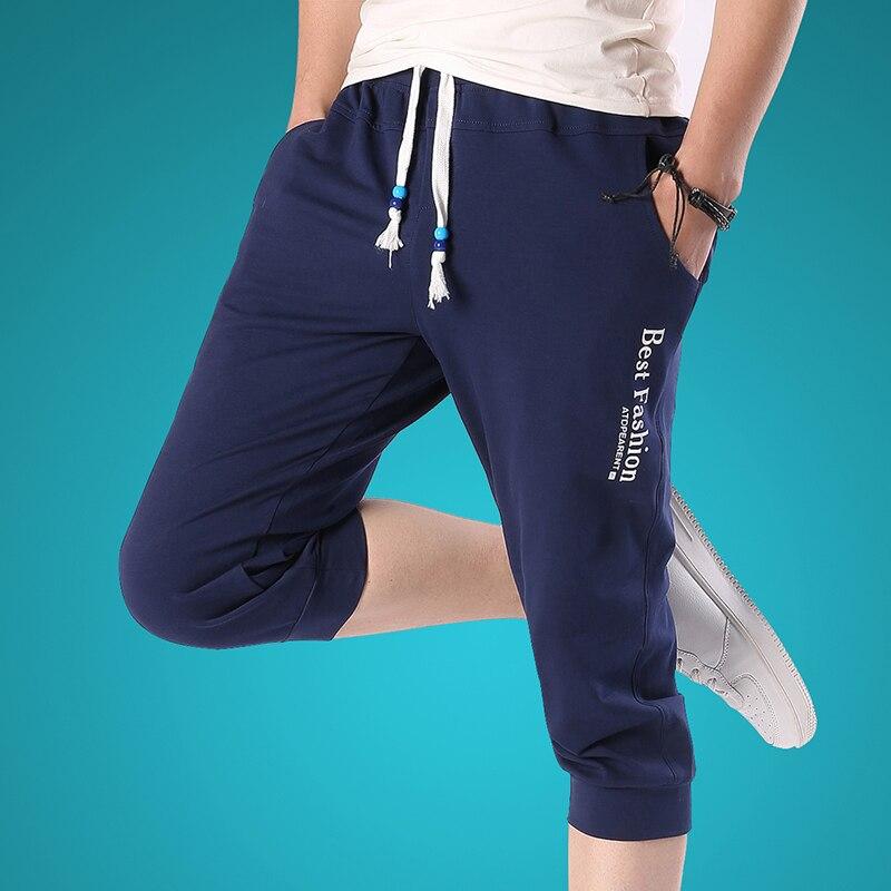 drop shipping 2018 Hot Sale male shorts Summer Fashion Casual Loose Mens Cropped Short Pants Sweatpants Jogger Shorts Men