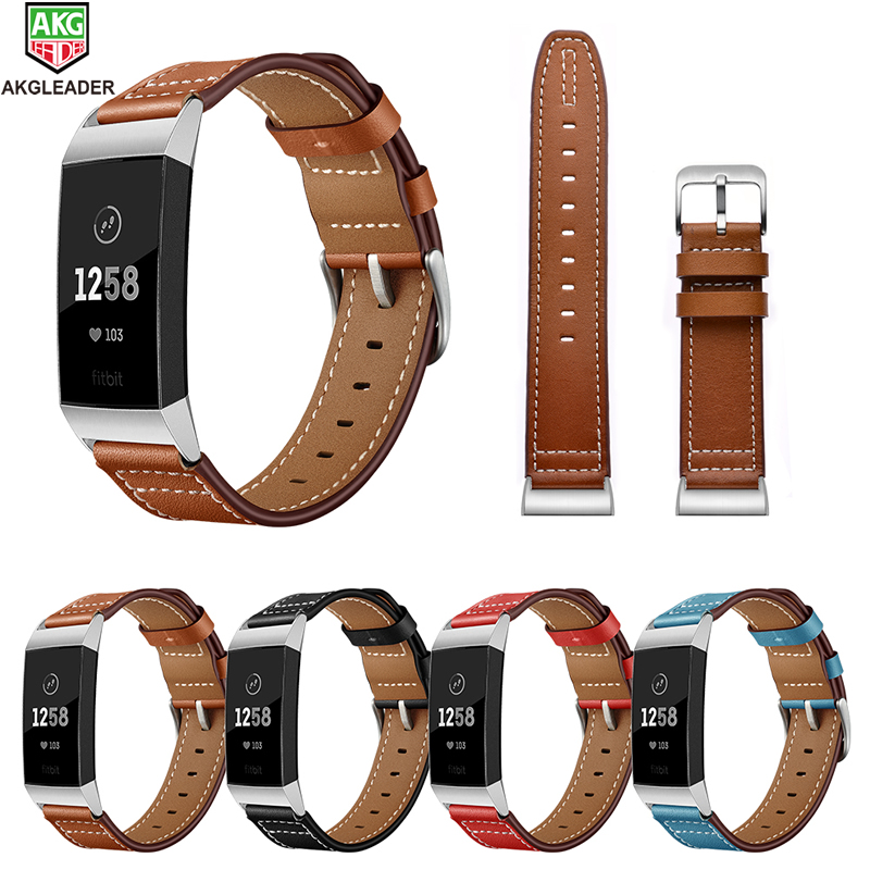 For Fitbit Charger 3 Wrist Strap Newest High Quality Genuine Leather Watch Band For Fitbit Charger 3 Smart Watch 18mm Watchbands