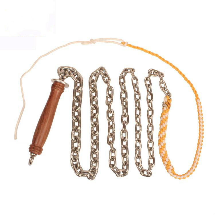 Wushu Chain Whip Pear Flower Wooden Handle Stainless Steel Whip Kung Fu Fitness Whip Outdoor Exercise Body Armor 1KG/1.5KG