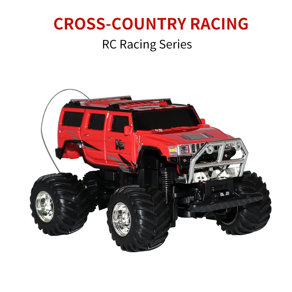 Greatwall Mini Hummer 1:58 RC Car Toy Off-Road Vehicle Remote Control Car High Speed Racing Monster Car for Boys & Girls RTR image