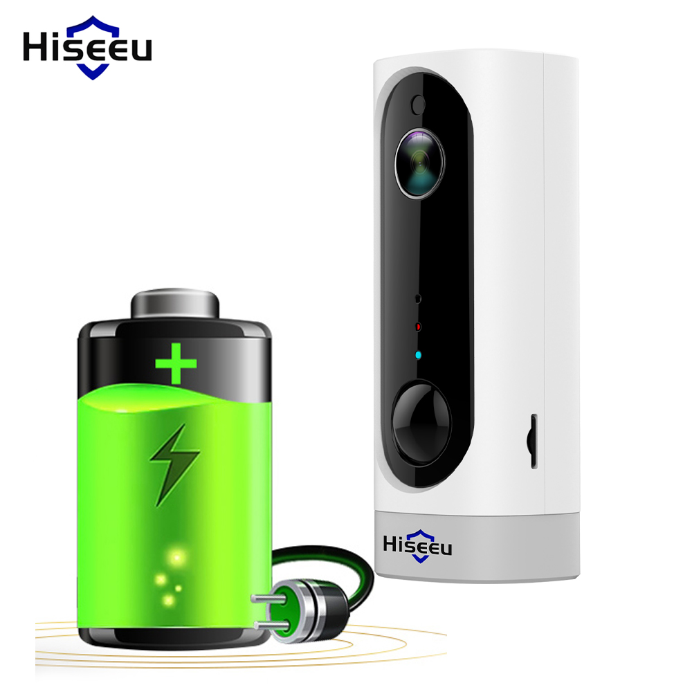 IP WIFI Battery Camera HD CCTV HD PIR Camera Rechargeable Battery 3000mA TF Card Two Way Audio Indoor HiseeuIP WIFI Battery Camera HD CCTV HD PIR Camera Rechargeable Battery 3000mA TF Card Two Way Audio Indoor Hiseeu
