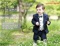 Мальчиков костюмы для свадеб Детей Выпускного Вечера Костюмы Черный Свадебные Костюмы для Мальчиков смокинг Большой Детская Одежда Набор Мальчик Формальный Классический костюм