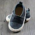Nueva tejer Toddler Primeros Caminante zapatos de bebé de cuero Genuino bebé mocasines bling niño y niñas Zapatos 11.5-14.5 cm envío gratis
