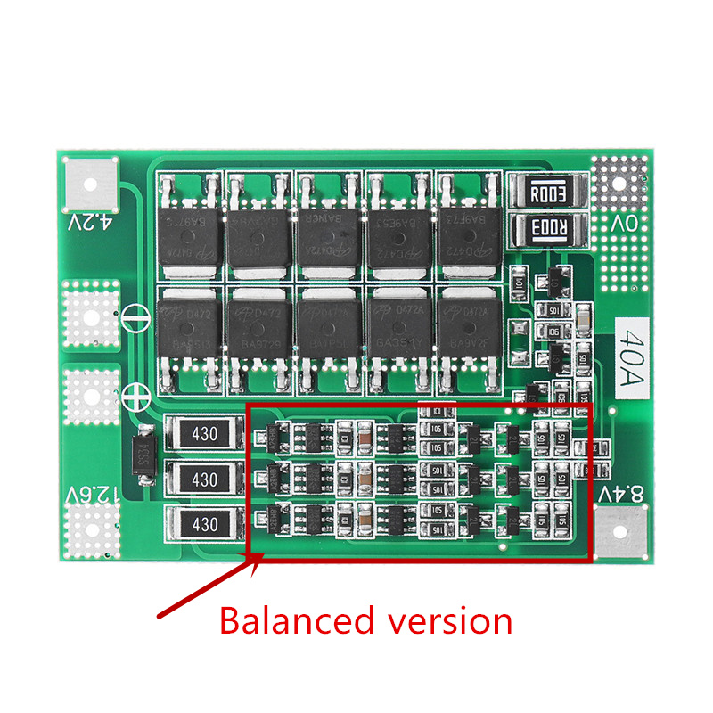 1 Pza 3S 40A Li-ion cargador de batería de litio Placa de protección PCB BMS para Motor de perforación 11,1 V 12,6 V Módulo de célula Lipo equilibrio mejorado F08474 IMAX RC B3 Pro Cargador Del Balance Compacto para 2 S 3 S 7.4 V 11.1 V de Litio de La Batería LiPo + Freepost