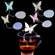 1PC Butterfly Tea Bags Strainers Silicone Filter Tea Silica Infuser Cute Teabags for Tea & Coffee Drinkware(China)