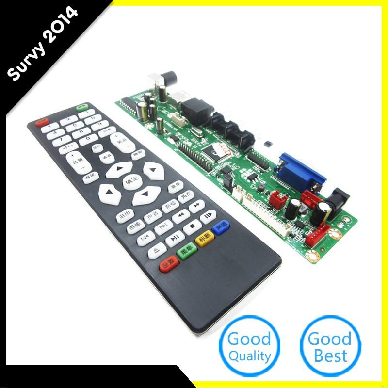 V29 Evrensel LCD TV Denetleyici Kurulu TV Anakart VGA/HDMI/AV/TV/USB DC 12 VV29 Evrensel LCD TV Denetleyici Kurulu TV Anakart VGA/HDMI/AV/TV/USB DC 12 V