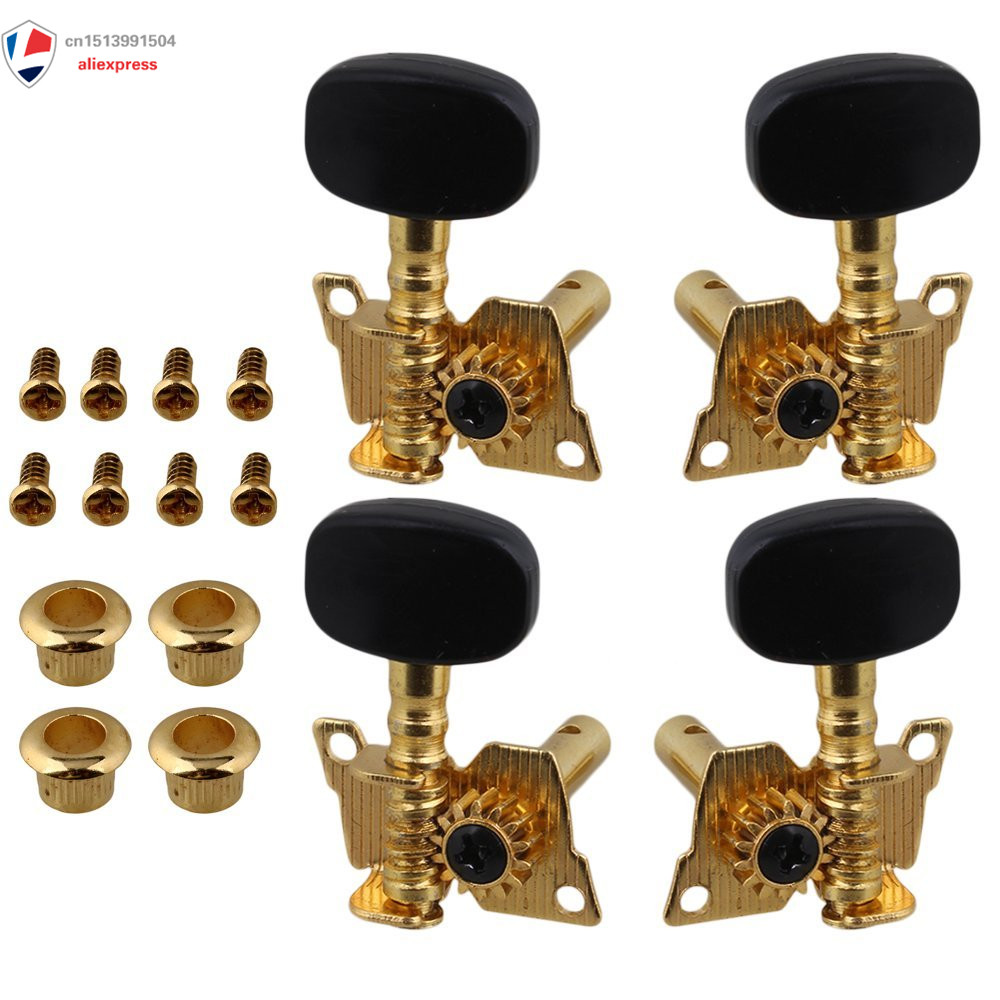 Gold-Plated 2R2L Tuning Peg Machine Head Tuners For Ukulele 4 String Guitar