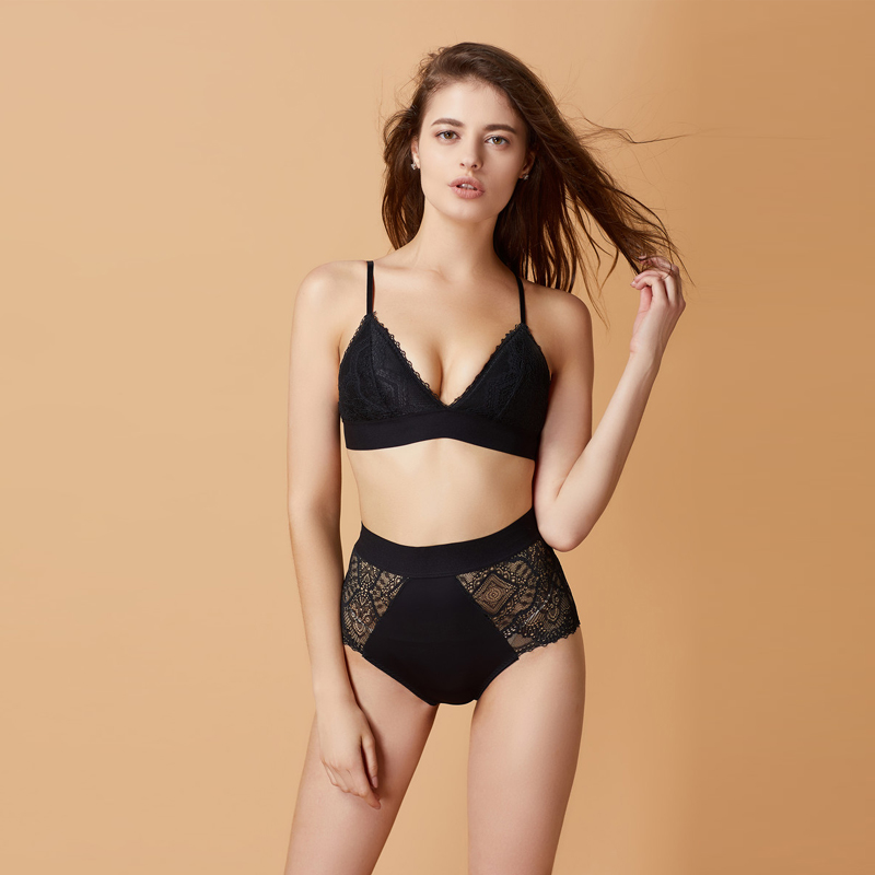 TERMEZY 2019 New Women Underwear Bralette Fashion Lace Jacquard   Bra     set   High Waist Panties Sexy Lingerie   Set   push up brassiere