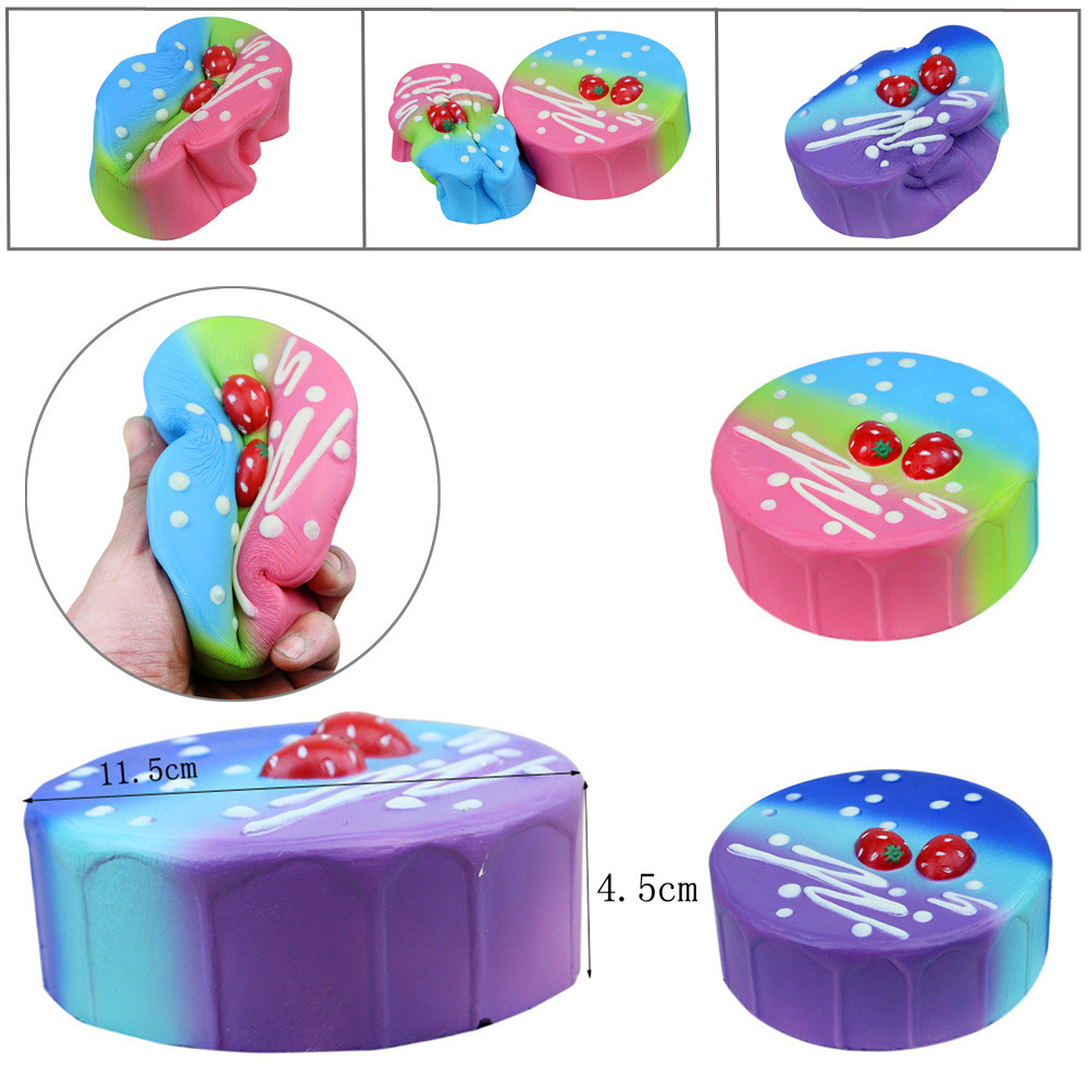 Drop shipping Squishy Birthday Cake Scented Slow Rising Collection Squeeze Stress Reliever Toy funny gadgets 2018 New arrival