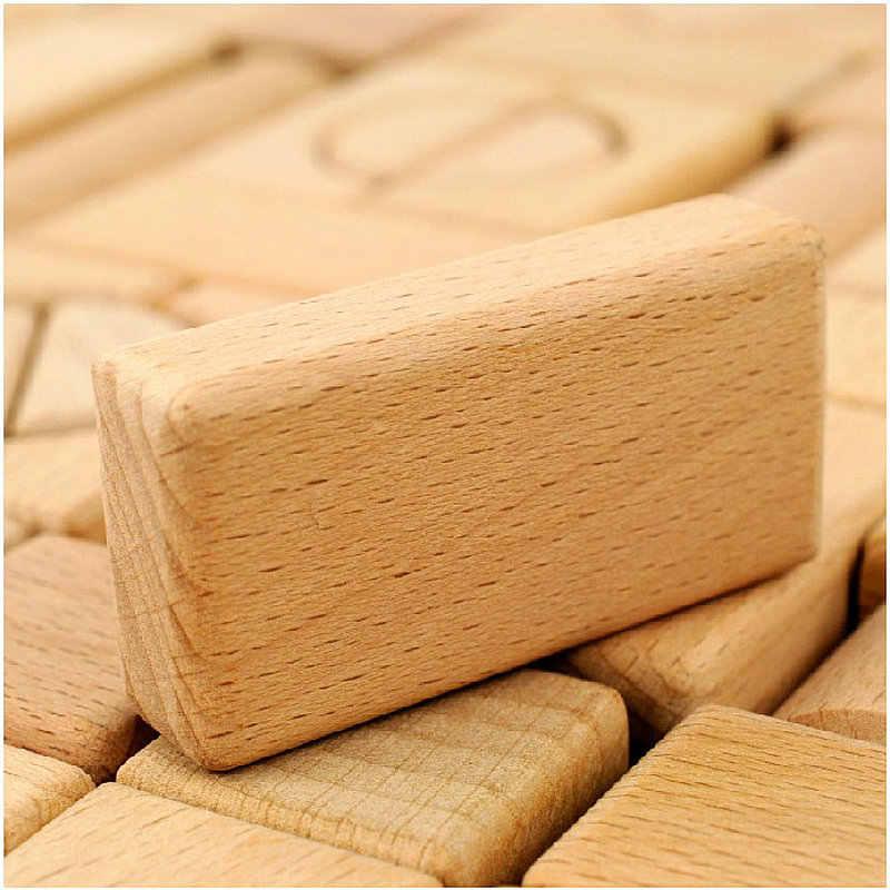 22 шт.. Буковые строительные блоки детские игрушки высокого качества монтажный блок игрушки Детские деревянные игрушки строительные блоки без краски подарок