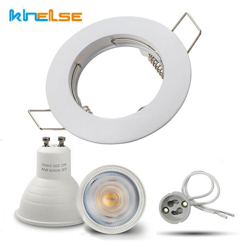 LED Bulb Spotlight GU10 MR16 6W 220V Downlight fixture Spot light Recessed Lighting Kit LED Lampada Bulbs with MR16/GU5.3 Socket ...