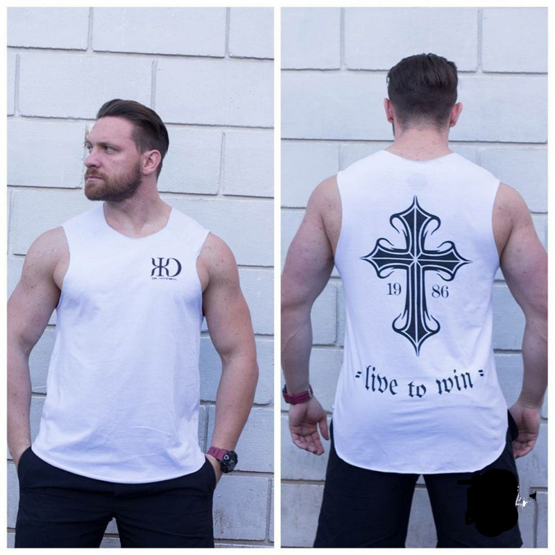 New Summer mens Tank Tops Muscle Bodybuilding Sleeveless shirts fashion Cotton vest gyms workout Stringer Fitness Brand clothing
