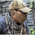 OneTigris טקטי מתקפל רשת עם אוזן הגנת איירסופט פיינטבול עם מתכוונן אלסטי חגורת רצועה