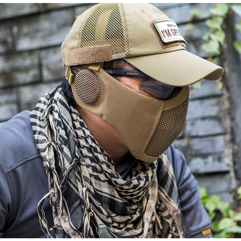 OneTigris Tactical Foldable Mesh Mask With Ear Protection for ...