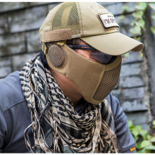 OneTigris Tactical Foldable Mesh Mask With Ear Protection for Airsoft Paintball with Adjustable Elastic Belt Strap simulation mask with elastic strap