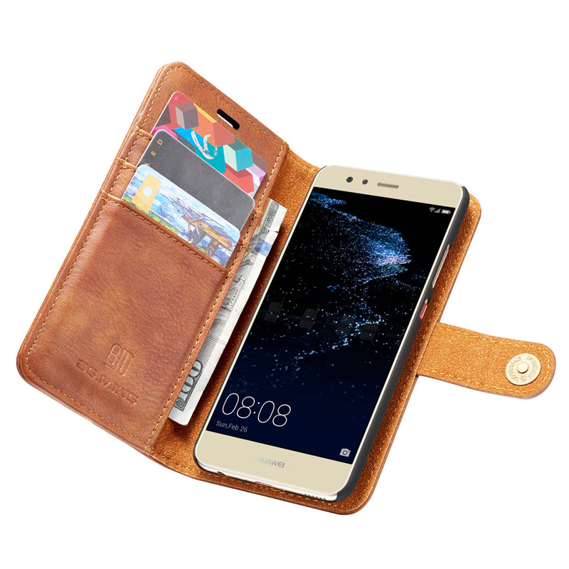 DG.MING Brand Luxury Leather Case for Huawei P10 Plus Detachable 2 in 1 Flip Card Holder Wallet Cover for Huawei P10 Plus Coque