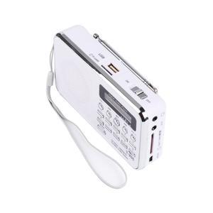 Image 3 - Новый T205 Портативный ЖК дисплей цифровой fm радио mp3 плеер мини музыкальный динамик Поддержка TF/SD карты USB AUX аудио вход 3,5 мм FS