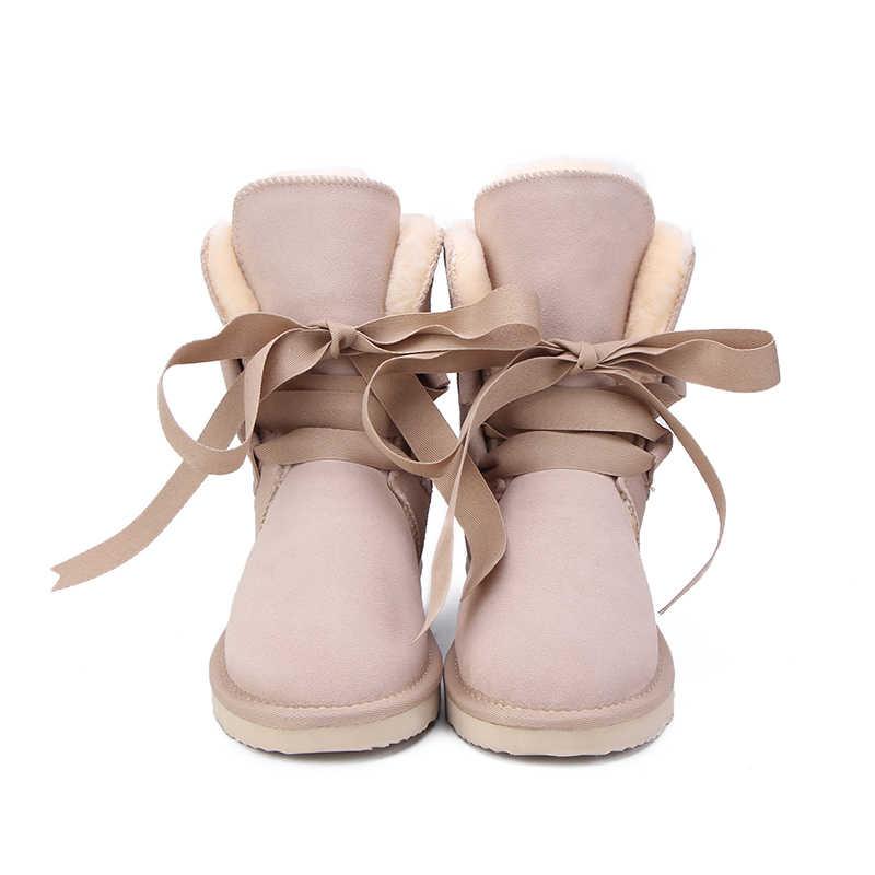 MBR FORZA di Nuovo di Alta Qualità Delle Donne di Modo Stivali Da Neve di Inverno del Cuoio Genuino Stivali Donna Stivali Caldi 12 Colore DEGLI STATI UNITI 3-13