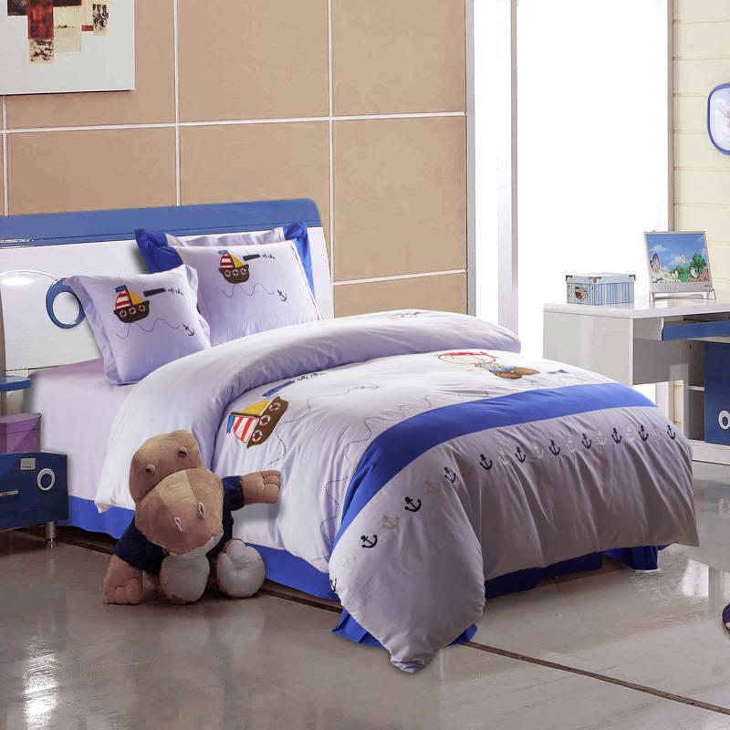 buques de apliques bordados de dibujos animados juego de cama doble tamao completo queen duvet cubre