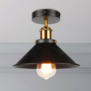 Image 1 - Industrial Ceiling Light Vintage ceiling lamp Adjustable led American country ceiling lamp Home lighting living room E27 85 260V