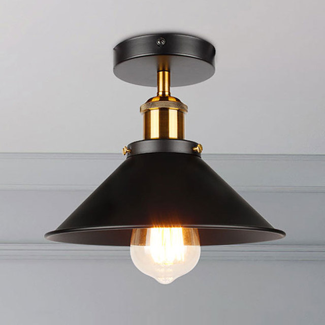 Industrial Ceiling Light Vintage ceiling lamp Adjustable led American country ceiling lamp Home lighting living room E27 85 260V