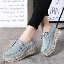 La meilleure vente Femmes Chaussures Plate-Forme De Luxe Marque Haute  Qualité Plat Femmes Chaussures Plus La Taille 42 Hauteur C.. c0d723d2522b