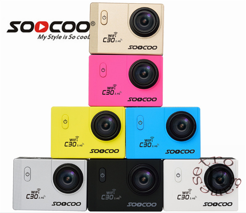 Original apagado SOOCOO C30/C30R Cámara de Acción 20MP 4 K Wifi Ultra HD 1080 p/60FPS ir impermeable Mini cámara bicicleta al aire libre Dv Cámara del deporte Cámara de