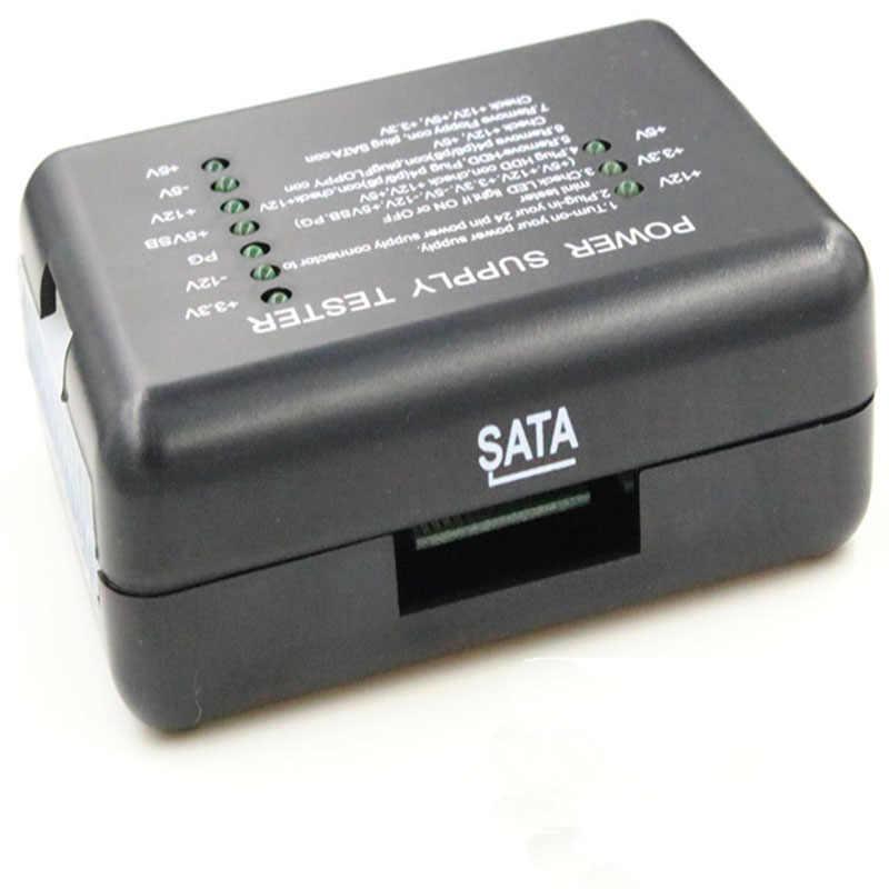 PC のコンピュータの ATX SATA HDD 電源テスターチェック 20/24 ピン HDD SATA 診断ツールのテスト ATX-コネクタ