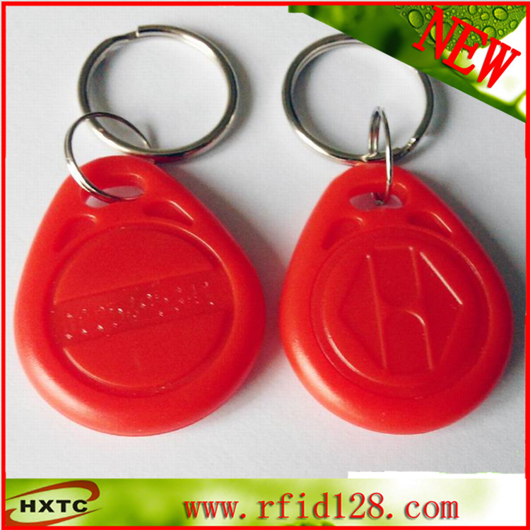 100PCS/Lot ABS 125Khz Proximity RFID ID Token / Keyfob / Keychain Card /Tag /RF card With EM4100 Chip For Access Control system