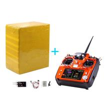 RadioLink AT10 II 2.4Ghz 12CH RC Transmitter with R12DS Receiver PRM-01 Voltage Return Module Battery for Quadcopte