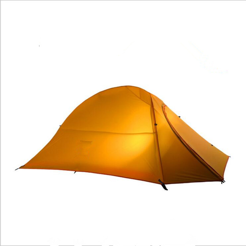 Double Layer Fire Retardant Tent 20D Nylon Outdoor Camping Ultralight Tent One Bedroom Two Man Only 1.4kg